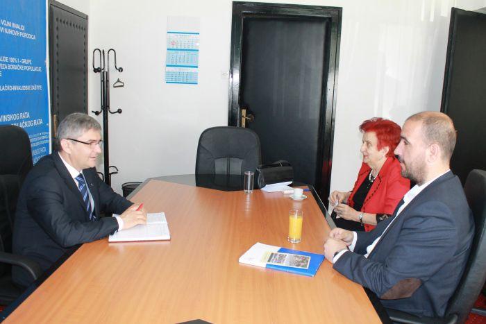 Delegacija Organizacije porodica šehida i poginulih boraca Federacije Bosne i Hercegovine sa ministrom Bukvarevićem