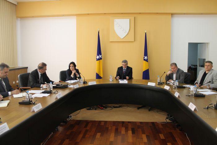 Ministar Bukvarević sa šefovima Odsjeka za pitanja evidencija iz oblasti vojne obaveze