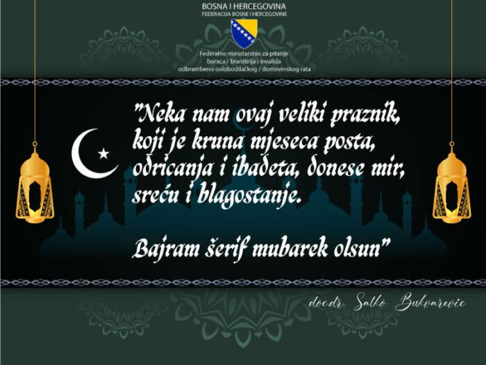 Bukvarević: Za mnoge porodice Bajram je radost ali i tuga